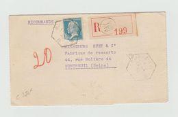 Recommandé 1932 - PARIS XVII - Cachet Hexagonal Paris - B - Sur Carte Lettre Avec Pasteur YT 181 - Marcophilie (Lettres)