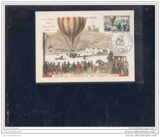 Carte Fédérale Journée Du Timbre 1955 Montlucon - Cartas Máxima