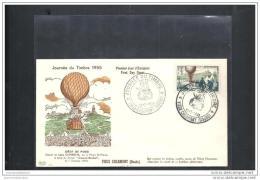 Enveloppe Pac Ballon Journée Du Timbre 1955 Vieux Charmont - 1950-1959
