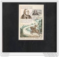 Carte Federale  Journée Du Timbre 1956 Clermont Ferrand - Storia Postale