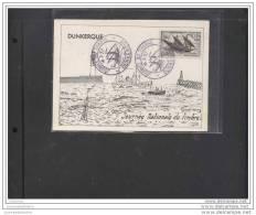 Carte Locale Journée Du Timbre 1957 Dunkerque - FDC