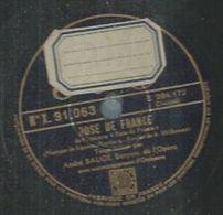 """78 Tours - ANDRE BAUGE  - PATHE 91063  """" ROSE DE FRANCE """" + """" POUR VIVRE AUPRES DE VOUS """" - 78 Rpm - Gramophone Records"""