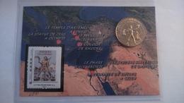13 AUBAGNE Encart Rhodes Le Colosse, 2015, Monnaie De Paris......n°21/120 ...... - Monnaie De Paris