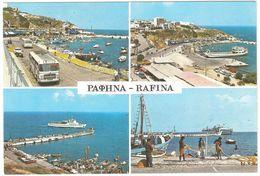Rafina - Souvenir De Rafina - Multiview - Vintage Autobus - Griekenland