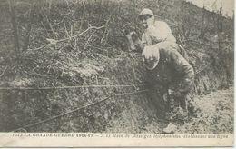 La Grande Guerre 1914-17 - Téléphonistes Réparant Une Ligne - Personnages