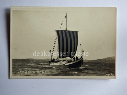 NORVEGIA Norge Vikingskipet Ship Viking Roald Amundsen Norway Old Postcard - Norvegia
