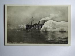 NORVEGIA Norge Turistskib I Pakisen Ship Norway Old Postcard - Norvegia