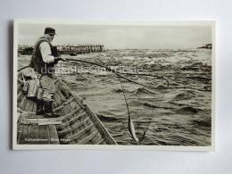 SVEZIA Kukkolaforsen Haparanda Fisherman Fishing Sweden Old Postcard - Svezia