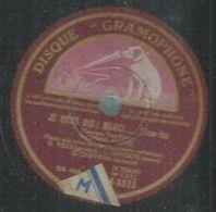 "78 Tours - YVONNE BLANC  - GRAMOPHONE 8633  "" JE VOUS DIS ! MERCI.... "" + "" BLUES CLAIR "" - 78 Rpm - Gramophone Records"
