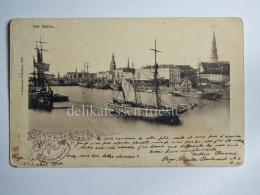 LETTONIA Latvijas RIGA Souvenir Ship Der Hafen AK Old Postcard - Letonia