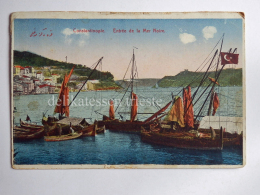 TURCHIA Türkiye ISTANBUL COSTANTINOPLE Mer Noire Ship AK Old Postcard - Turchia