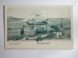 TURCHIA Türkiye ISTANBUL COSTANTINOPLE Port Fisherman Ship AK Old Postcard - Turchia