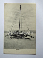 FIJI FIGI Canoe  AK Old Postcard Fisherman Fishing Pesca - Figi