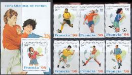 0978 Sport Football Soccer World Cup FIFA 1998 Shr 6v+S/s Set MNH ** - World Cup