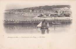Cp , 62 , BOULOGNE-sur-MER , Vue Générale De La Plage - Boulogne Sur Mer