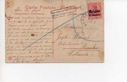 Cp Wandre Hollande  22 09 1915 Cachet Non Admis Au Transfert - WW I