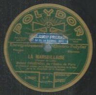 """78 Tours - ROBERT COUZINOU  - POLYDOR 521837  """" LA MARSEILLAISE """" + """" LE CHANT DU DEPART """" - 78 Rpm - Gramophone Records"""