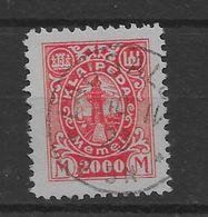 Sello De Memel  Nº Michel 162 (o). - Ocupación 1914 – 18