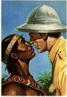 CHROMO ET IMAGE COLLECTION ECLAIR RACES HUMAINES N° 261 LE SALUT DU MAORI - Chromos