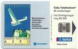 Sweden - Telia - Finnair - 04.1994, 30U, 5.500ex, Used - Sweden