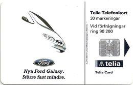 Sweden - Telia - Ford Galaxy #1 - 03.1996, 30U, 2.500ex, Used - Sweden
