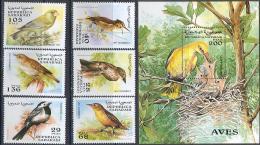 1307 Fauna Birds 1997 Shr 6v+S/s Set MNH ** - Pájaros