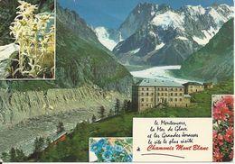 CPM  France   74  Haute Savoie  Chamonix Mont Blanc Le Montenvers La Mer De Glace Et Le Massif Des Jorasses - Chamonix-Mont-Blanc