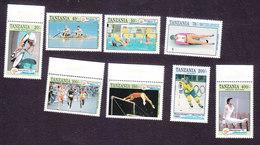 Tanzania, Scott #903-910, Mint Hinged, Olympics, Issued 1992 - Tanzania (1964-...)