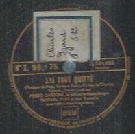 "78 Tours - FREDO GARDONI  - PATHE 98175  "" J'AI TOUT QUITTE "" + "" SI J'ETAIS MA FEMME "" - 78 Rpm - Gramophone Records"