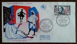FDC 1963 - YT N°1372 - PIERRE DE MARIVAUX - PARIS - FDC