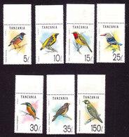 Tanzania, Scott #978-984, Mint Never Hinged, Birds, Issued 1992 - Tanzania (1964-...)