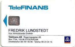 Sweden - Telia - Fredrik Lundstedt (Unofficial Business Card) 10U, SC6, 1992, 100ex, Mint (check Photos) - Sweden