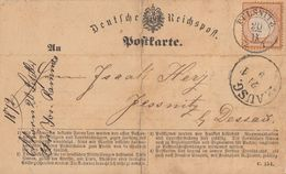 DR Karte EF Minr.14 K2 Pulsnitz 20.9.72 Nachv. Sachsenstempel - Briefe U. Dokumente