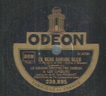 """78 Tours - GRAND ORCHESTRE ODEON  - ODEON 238895  """" LE BEAU DANUBE BLEU """" Valse 1 + """" LE BEAU DANUBE BLEU """" Valse 2 - 78 Rpm - Gramophone Records"""