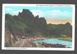 Helena - Missouri River Canyon - U. S. Highway 91 - Between Great Falls And Helena - Linen - Great Falls