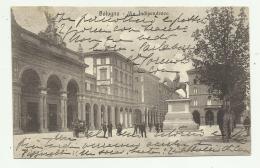 BOLOGNA - VIA INDIPENDENZA - RETRO INDIR. PREMIATA PASTICC. BACCHELLI NAPOLEONE 1916  VIAGGIATA FP - Bologna