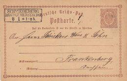 DR Ganzsache R3 Schmiedeberg Reg. Bez. Merseburg 6.1. - Briefe U. Dokumente