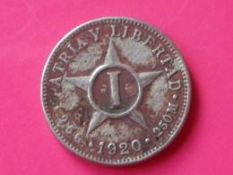 Cuba 1 Centavo 1920  KM#9.1  Cupronickel    TB - Cuba