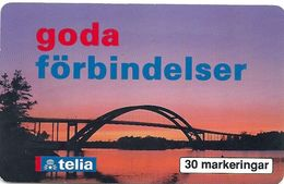 Sweden - Telia - Goda Förbindelser - Djuröbron - 03.1995, 30U, 3.000ex, Used - Sweden