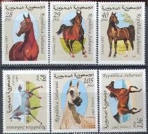 1913 Fauna Animals Horses 1997 Shr 6v Set MNH ** - Horses
