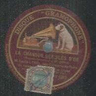"""78 Tours - LOUIS LYNEL  - GRAMOPHONE 5913  """" LA CHANSON DES BLE D'OR """" + """" L'OCEAN """" - 78 Rpm - Gramophone Records"""