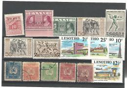 55408  ) Collection Corfu Overprint Lesotho Georgia Postmark - Timbres