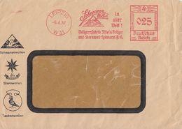 DR Brief AFS Schwanenwolle In Aller Welt Leipzig 6.4.37 - Deutschland