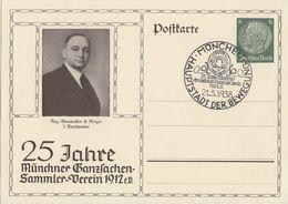 DR Privat-Ganzsache Minr.PP127 D1 SST München 21.5.38 - Briefe U. Dokumente