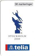 Sweden - Telia - Os 2004 Stockholm - 30U, 06.1997, 10.500ex, Mint (check Photos!) - Sweden