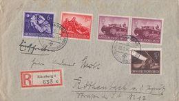 DR R-Brief Mif Minr.876,877,878,2x 880 Nürnberg 22.5.44 - Deutschland