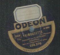 """78 Tours - M. MARCEAU  - ODEON 238270  """" FRIMOUSETTE """" + """" MARCHE DES ACCORDEONISTES """" - 78 Rpm - Schellackplatten"""
