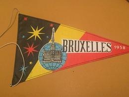 Fanion Souvenir . Bruxelles Expo 58. Bruxelles 1958. Matière Tissu - Obj. 'Souvenir De'