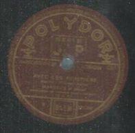 """78 Tours - MARCEL'S  - POLYDOR 512338  """" AVEC LES POMPIERS  """" + """" SAINTE-CATHERINE """" - 78 Rpm - Gramophone Records"""