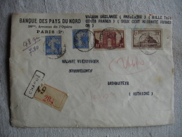 Perfin Perfore B P N  B P N  Banque Pays Du Nord Timbre Arc Detriomphe Mont Saint Michet Et 2 Semeuse Devant Lettre - France